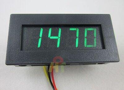 Green 4 Digital Motor LED Tachometer RPM Speed Measure Gauge Meter Tester 9999