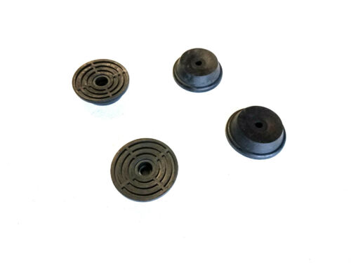 """4 Rubber Bumper Pad Feet with Metal Washers 2-1//16/"""" Dia x 11//16/"""" Height"""