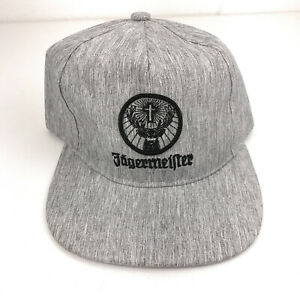 Jegermeister hat flat brim cap gray with embroidery NWOT hbx55