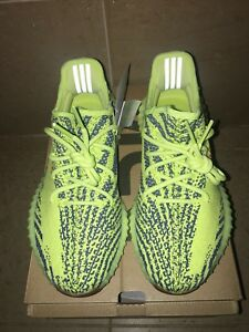 d0546f2a412baa Yeezy Boost 350 V2 Semi Frozen Yellow RawSteel Red UK8 Us8.5
