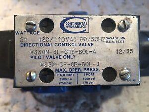 Continental Hydraulics Hydraulic Valve  Model VS5M-1A-GB-60L-J 120//110VAC