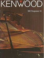 Kenwood Katalog Prospekt 1992 L-1000 DP-X9010 KA-V8500 KA-9010 T-7020 KX-9050S