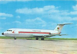 TAROM AIRLINE ISSUE POSTCARD BAC ONE ELEVEN JET WITH 84 SEATS