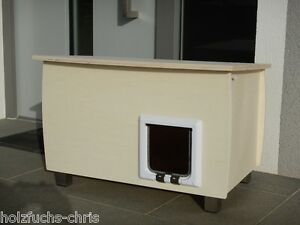 katzenhaus holz xl f r au en oder innen katzenh hle. Black Bedroom Furniture Sets. Home Design Ideas
