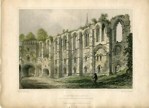 Dunfermline-Abbey-Engraving-in-1850-by-J-H-le-Keux-of-a-Drawing-R-w-billings