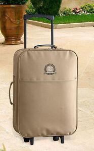 Reisetrolley-Reisekoffer-Trolley-Koffer-Bordgepaeck-Bordcase-Auszieh-Griff-beige