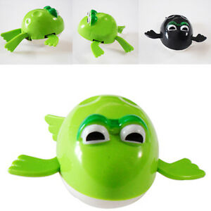 Funny Wind Up Swimming Frog Pool Animal Toys For Baby Kids Bath Time Ebay