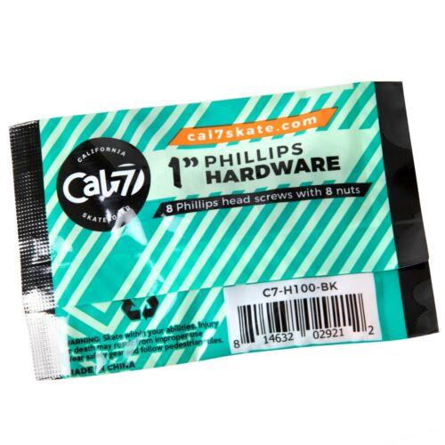 "Cal 7 Skateboard Hardware 1/"" Phillips Mounting Bolts"