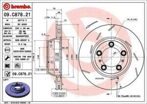 Disc-Brake-Rotor-Premium-UV-Coated-OE-Equivalent-Rotor-Rear-Left-fits-Panamera
