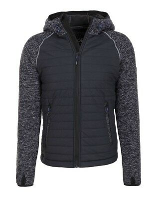 Superdry Men/'s Navy Grit Sport Blizzard Zip Hooded Jacket