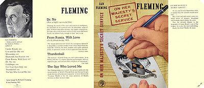 Fleming-facsimile 1963 Uk Ausgabe On Her Majesty's Secret Service umschlag 1