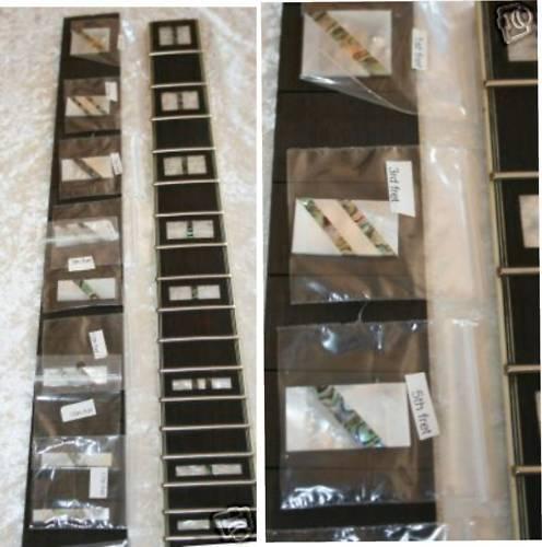 MOP und Abalone Inlay Guitar 2mm stark schräg Inlays