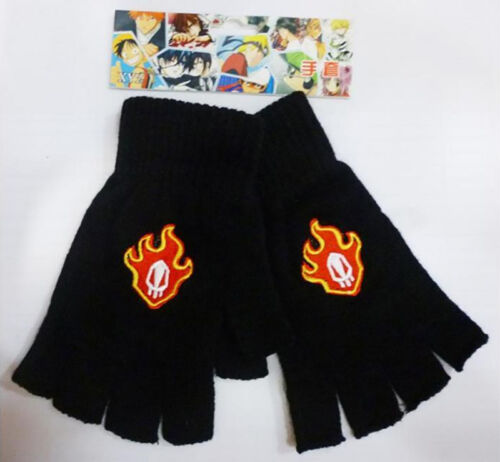 Anime Bleach Half Finger Plush knit Gloves Winter Cosplay Mitten Gift Fashion