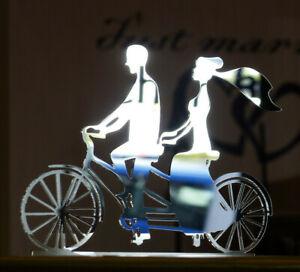 Caketopper-Tortenfigur-Tandem-Hochzeit-Torten-Picker-Fahrrad-Brautpaar-Married