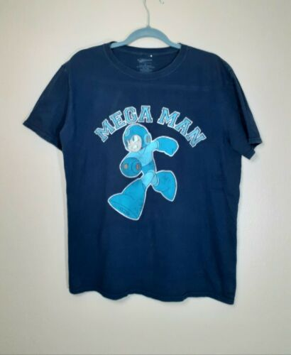 Retro Mega Man Mens Graphic T-Shirt Large Cotton O