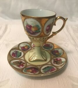Vintage-Lefton-China-Demitasse-Tea-Cup-and-Saucer-Set-Hand-Painted