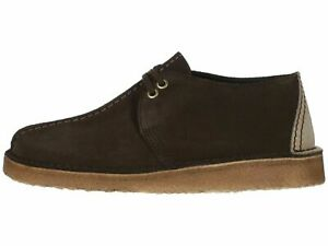Clarks-Originals-Desert-Trek-Dark-Brown-Men-039-s-Suede-Lace-Up-Boots-38087