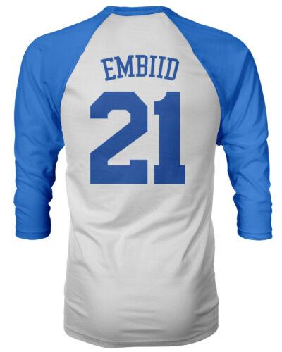 "Philadelphia 76ers /""Trust The Process/"" Joel Embiid Mens Raglan Quarter T-Shirt"