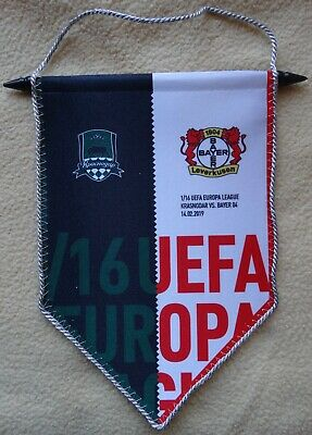 Gut Ausgebildete Spiel Wimpel 18/19 el fk Krasnodar - Bayer 04 Leverkusen Reinigen Der MundhöHle.