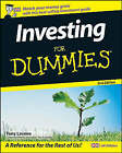 Investing For Dummies by Tony Levene (Paperback, 2008)