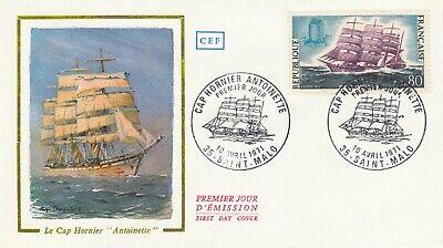 Enveloppe 1er Jour Navig Bateau St Malo 1971 Cap-hornier Antoinette Voilier 3 Alta Calidad Y Barato