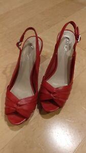 e67e4e6628c7 ALDO Shoes Red Open Toe Pumps Size 7 (37) Heels Stilettos ...