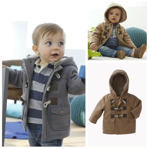 Warm Infant Toddler Baby Boy Winter Coat Hat  Kids Clothes Children Outerwear