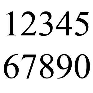 Details Zu Hausnummer Haustür Aufkleber Briefkasten Zahl Nummer Startnummer Zahlen Times