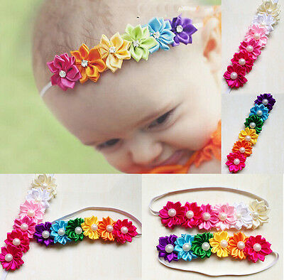Universal Baby Girl Hairband Rainbow Flower Hair Acessories Photography Nice