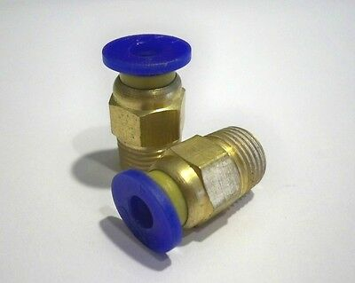 2x Push In Fittings for 4mm OD PTFE Tubing - RepRap Bowden Extruder 3D Printing