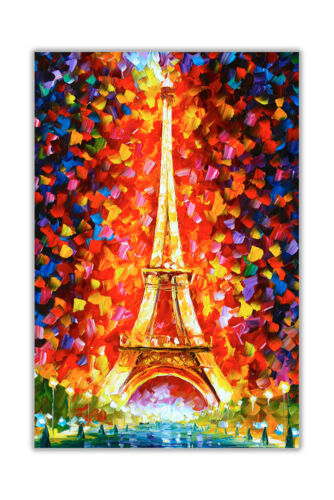 AT54378D Eiffel Tower By Leonid Afremov Canvas Wall Art Prints Abstract Pictures