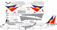 Philippine Airbus A-321 Decals For Revell 1/144 Kit