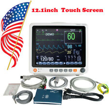 Icu Portable Patient Monitor Vital Sign 6 Parameter Cardiac Machine Touch Screen