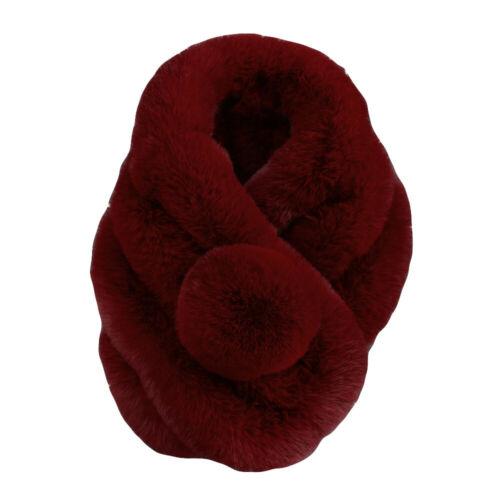 Womens Girls Winter Warm Scarf Fashion Thicken Fur Imitation Fur Grass Scarves C