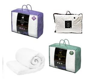 Deluxe-Duck-Goose-Feather-Duvet-or-Pillows-Quilt-13-5-Tog-Comfotable-Bedding-New