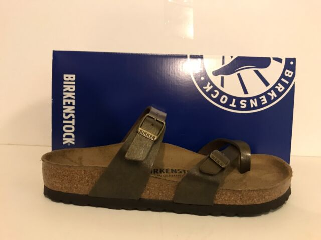 5ba32acc6f16b Birkenstock Mayari Birko Flor Thong Sandals Womens Golden Brown ...