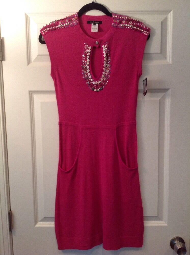 Nanette Lepore Rosa Knit Dress With Bead Detail, Größe XS NWT