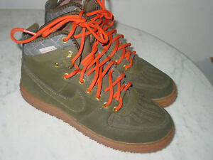 Details about 2013 Nike Air Force 1 Duckboot Dark LodenGum Waterproof Boots! Size 10
