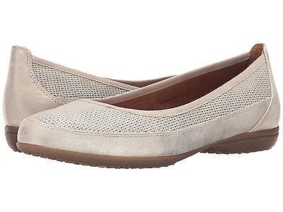 sports shoes 8977e 9cf53 TAMARIS 22115 Women Flat Nude Gold Pepper Soft Leather Touch It Pump | eBay