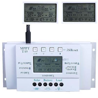 LCD 10/20/30/40A 12V/24V MPPT Solar Panel Regulator Charge Controller 3 Timer PK