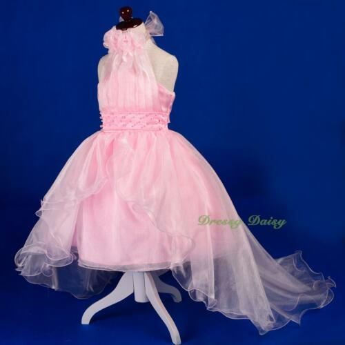 Beads Organza Communion Flower Girl Party Occasion Dress Up Gown Size 4-14 FG326