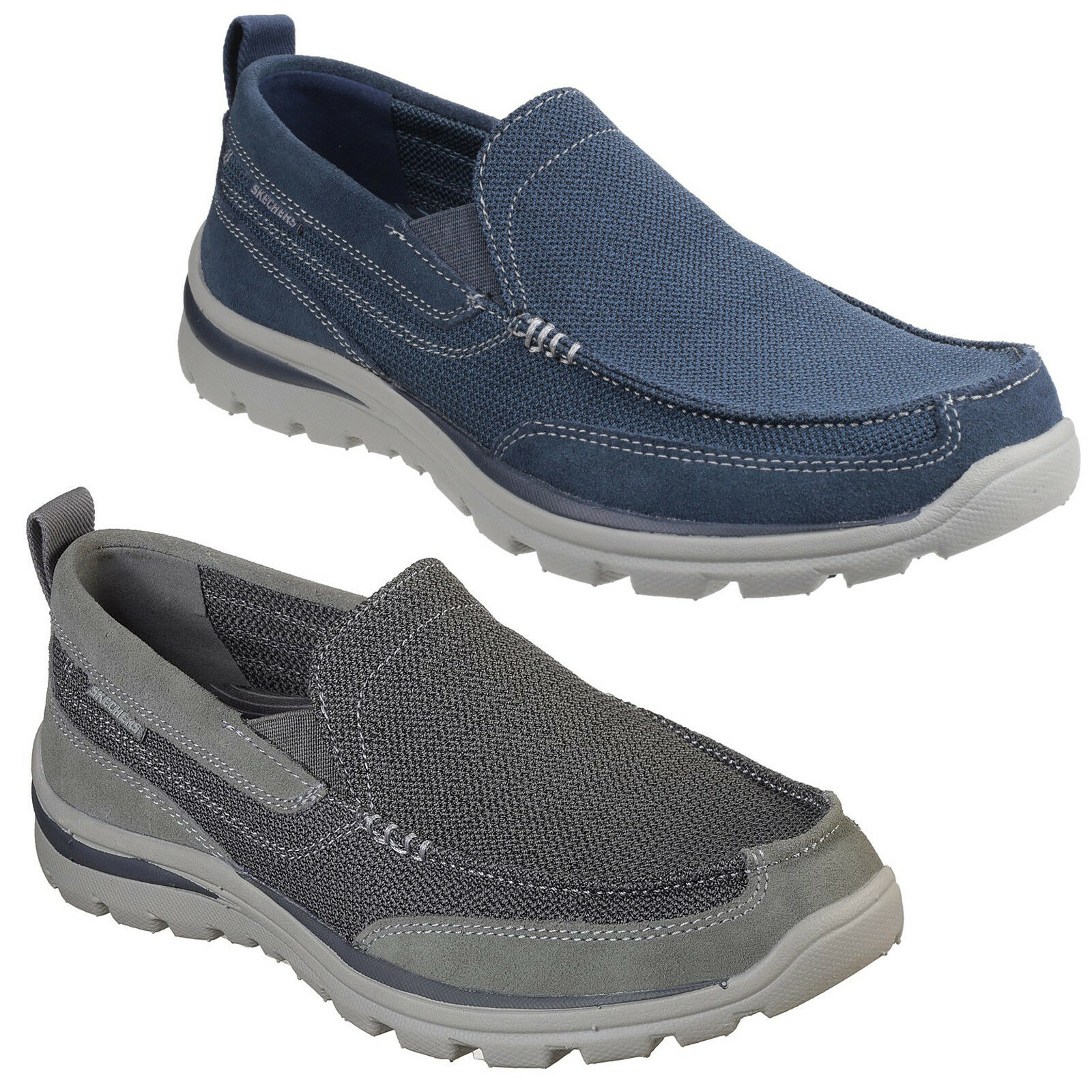 Skechers Relaxed Fit: Superior-Milford Chaussures 64365 Homme Mousse à Mémoire De Forme Baskets