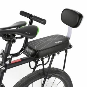 Durable For Adults Child Comfortable Bike Seat Rack Bicycle Rear Cushion Black