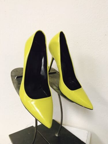 Pierre Hardy Bright Yellow Pointy Toe Pumps Heels Size 38.5