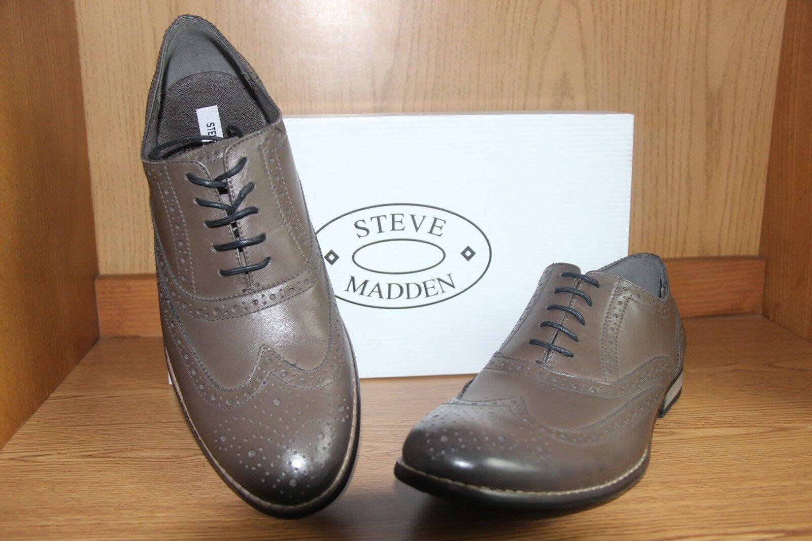 Steve Madden GIONNI Wingtip Oxford shoes Men Brown Size 12