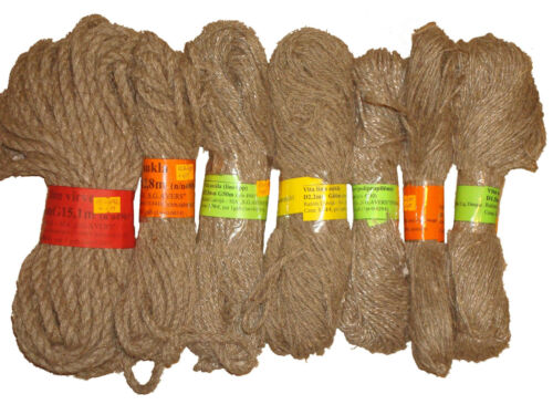 Natural Linen  Flax Hemp Rope Line Tie Cord Twine Braided 1.5-2.2-3-5-8-10-12mm