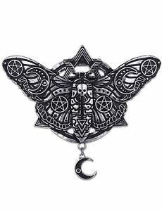 Restyle-Geometric-Occult-Moth-With-Crescent-Moon-amp-Pentagram-Witch-Hair-Clip