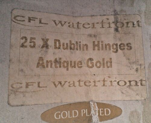 """1 Pair Lift Off Hinges 3.5/"""" x 2/"""" CFL Waterfront Brass Antique Gold"""