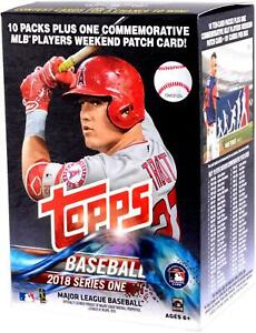 2018 Topps Baseball Series 1 Factory Sealed 10 Pack Blaster Box - Fanatics