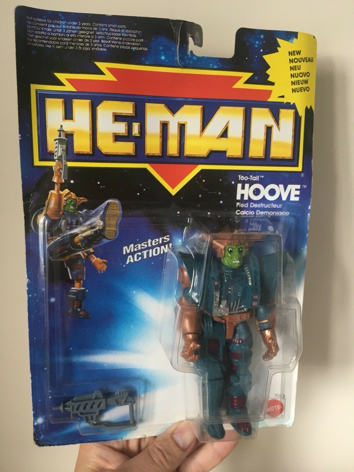 Very Rare The New Adventures of He-man Too Tall Hoove UNUSED MOC SEALED